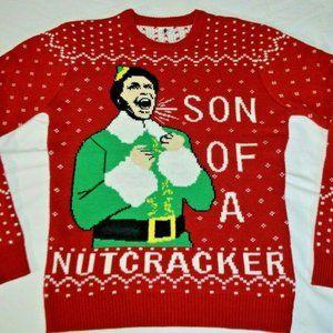 Hybrid Apparel Womens Elf Son of A Nutcracker Holiday Sweater